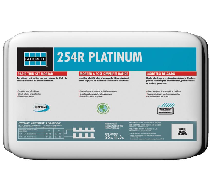 LATICRETE<sup>®</sup> 254R Platinum Rapid >