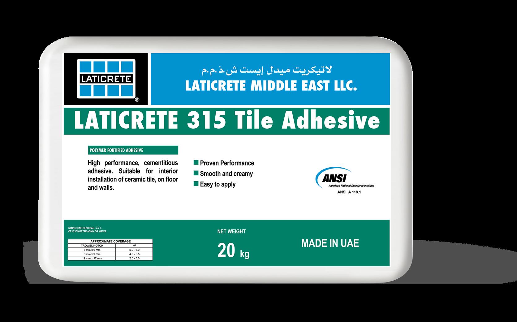 Latapoxy<sup>®</sup> 315 Tile Adhesive >