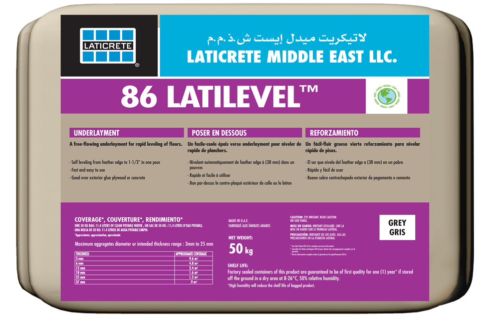 LATICRETE<sup>®</sup> 86 Self Leveling Underlayment™ >
