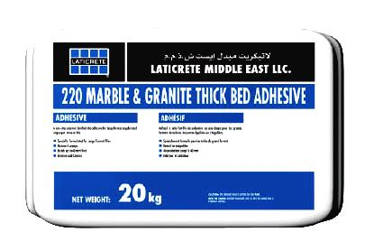 LATICRETE<sup>®</sup> 220 Marble and Granite Thick Bed Adhesive >