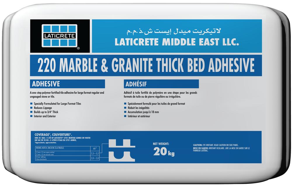 LATICRETE 220 Marble & Granite Thick Bed Adhesive